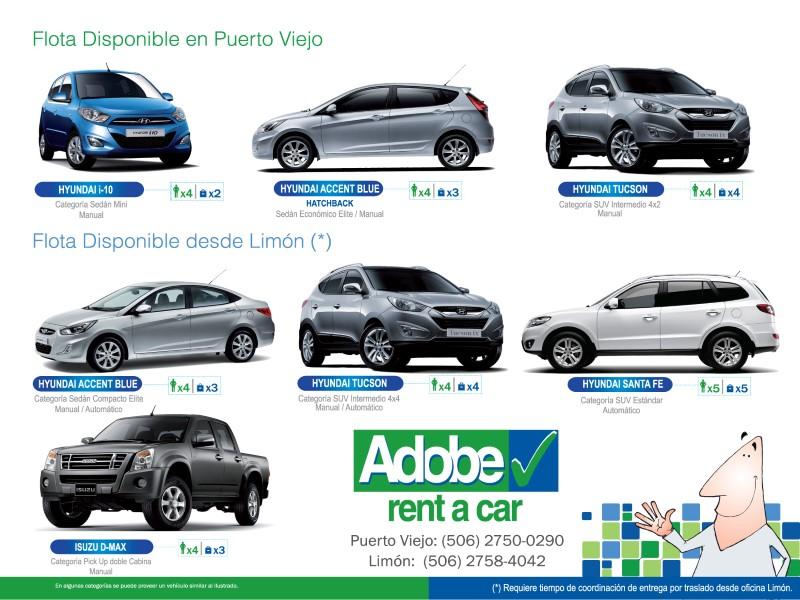 Adobe Rent A Car - Casa Galim - Puerto Viejo - Costa Rica